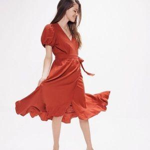 Urban outfitters Amalfi linen midi dress